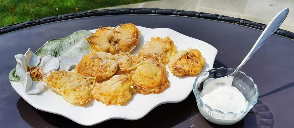 Spring cooking - Elderflower Gin, and Elderflower Fritters
