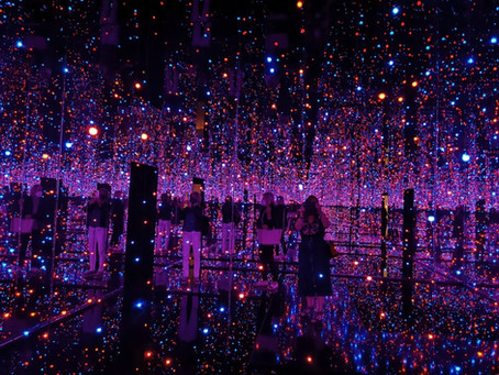 Immersed in the Yayoi Kusama exhibition (plus lunch) at the Tate Modern, and an insight into Rodin.