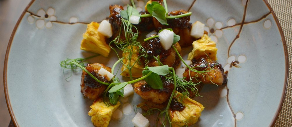 Getting chefy at home - recreating Black Pepper Prawns from Sticky Mango