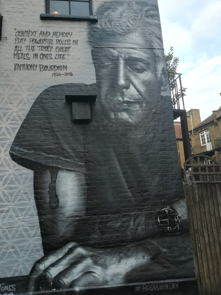 Sticky Mango - Wonderful mural of Anthony Bourdain