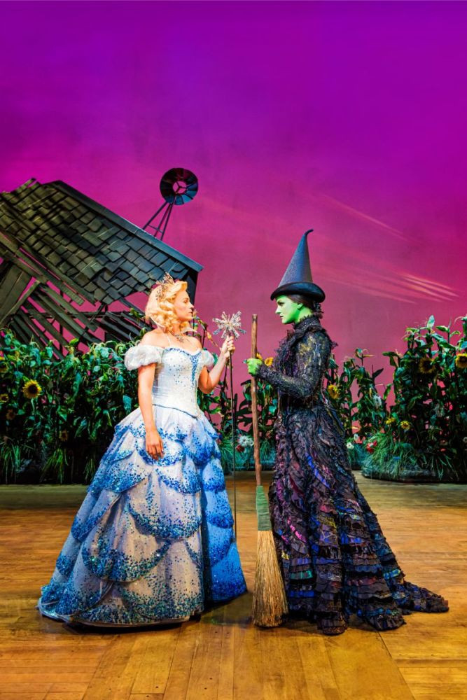Glinda the Good and Elphaba The Wicked Witch of the West