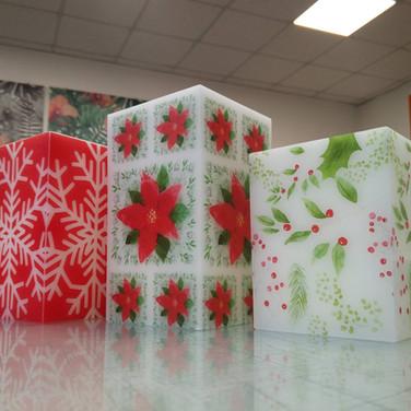 Stampa diretta UV candele natalizie