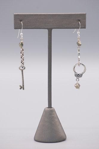 Handcuff & Key Earrings