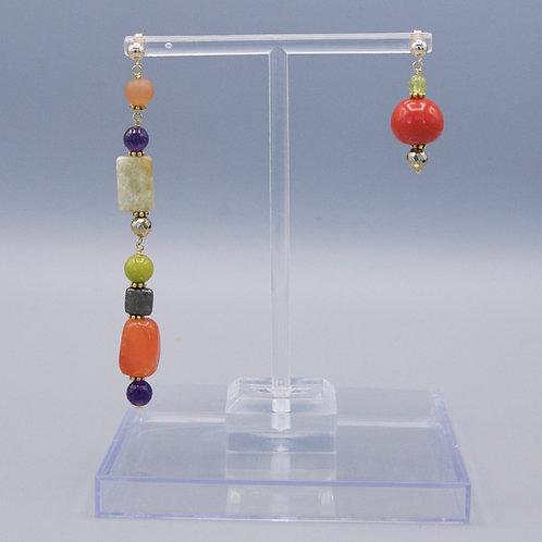 Persimmon & Grape Boho Earrings
