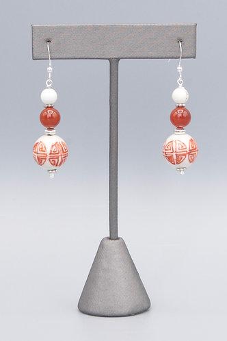 Hong (Red) Bai (White) Earrings