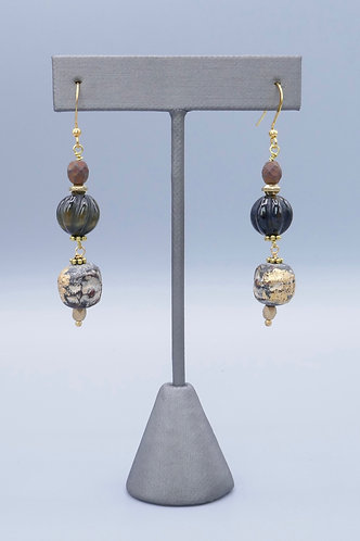Tibetan Prayer Beads Earrings