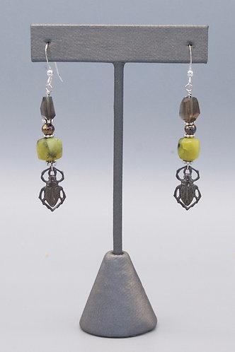 Scarab Beetle Earrings - 2 versions