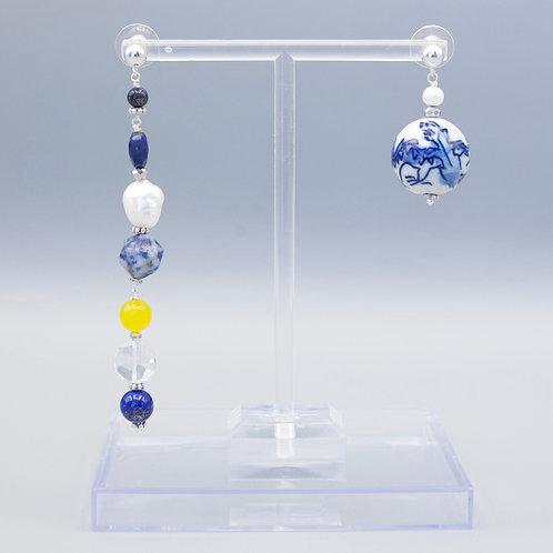 Ming Blue Boho Earrings