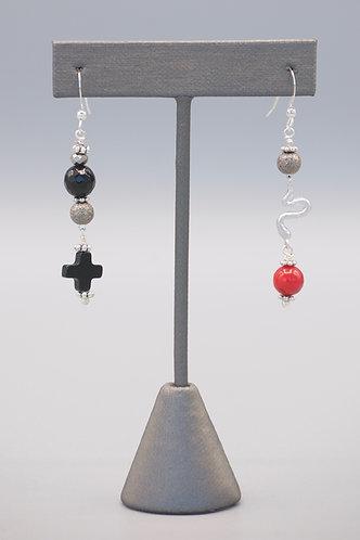 Serpant & Cross Earrings