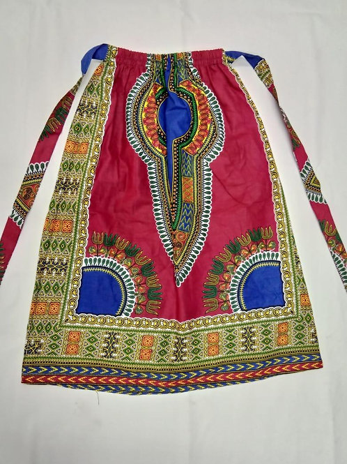 Little Females African (red) skirt with Elastic Waist