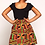 Thumbnail: African Kente Print Skirt w/belt for Girls