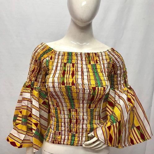 African Tribal Wide Neck Top