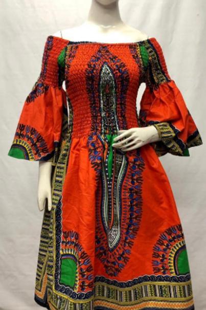 Dashiki Smoked Ankara African Dress