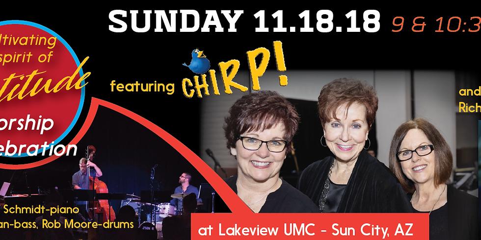 Chirp! Worship at Lakeview UMC