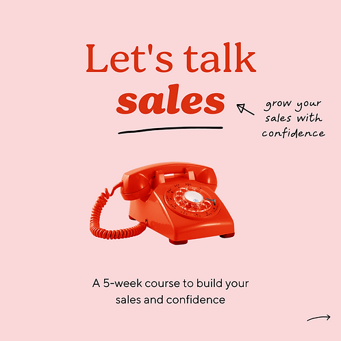 Let's Talk Sales - May 2021 course