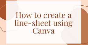 How to create a line-sheet using Canva