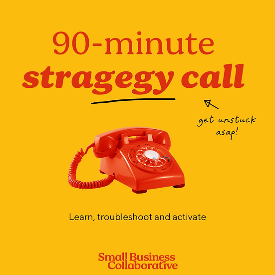 90-minute Strategy call