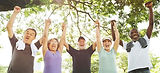 Diverse-group-older-adults-exercising-ou