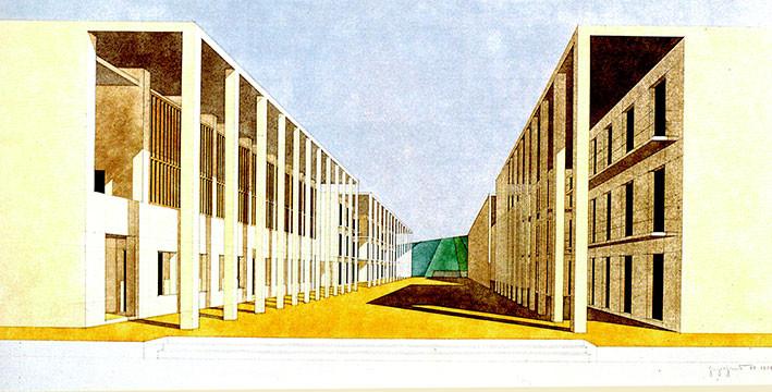 casa dello studente, Giorgio Grassi, Chieti, 1977