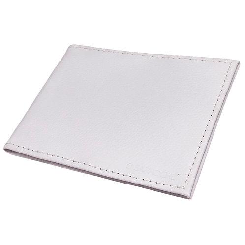 porta documentos em couro branco
