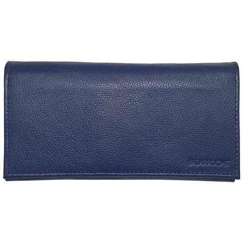 Frente da capa carteira azul para celular