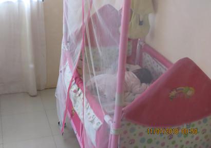 Sleeping with Mosquito Netting