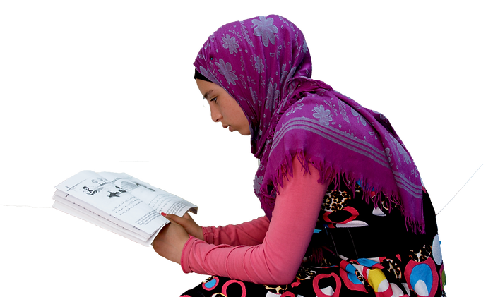 Zaatari Youth Center_Library Girl1.png
