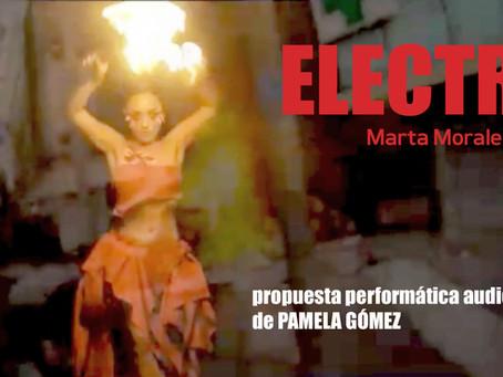 """""""Electra sueña"""", propuesta performática audiovisual de Pamela Gómez"""