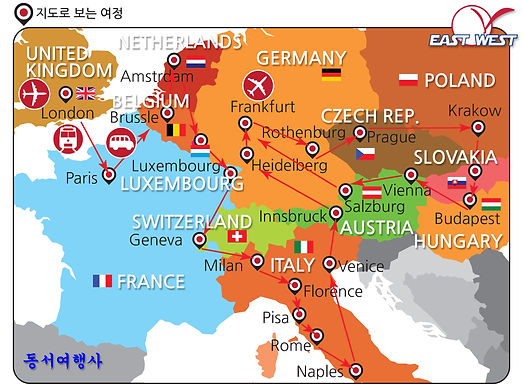 East West Europe 13x23days