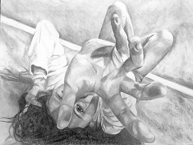 """Chance, graphite in paper 18"""" by 24"""" #ar"""