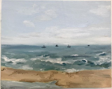 The Beach __oil painting 9'' by 12'' on