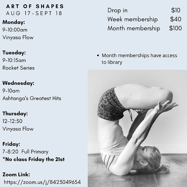 Copy of The Art of Shapes April27- May 1