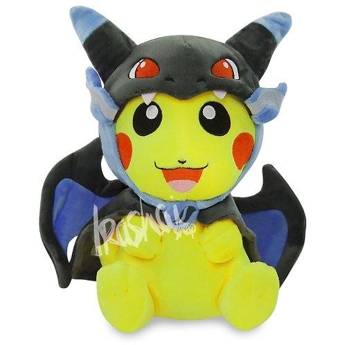 Pelúcia Pikachu Mega Charizard X - Pelúcia Pokémon