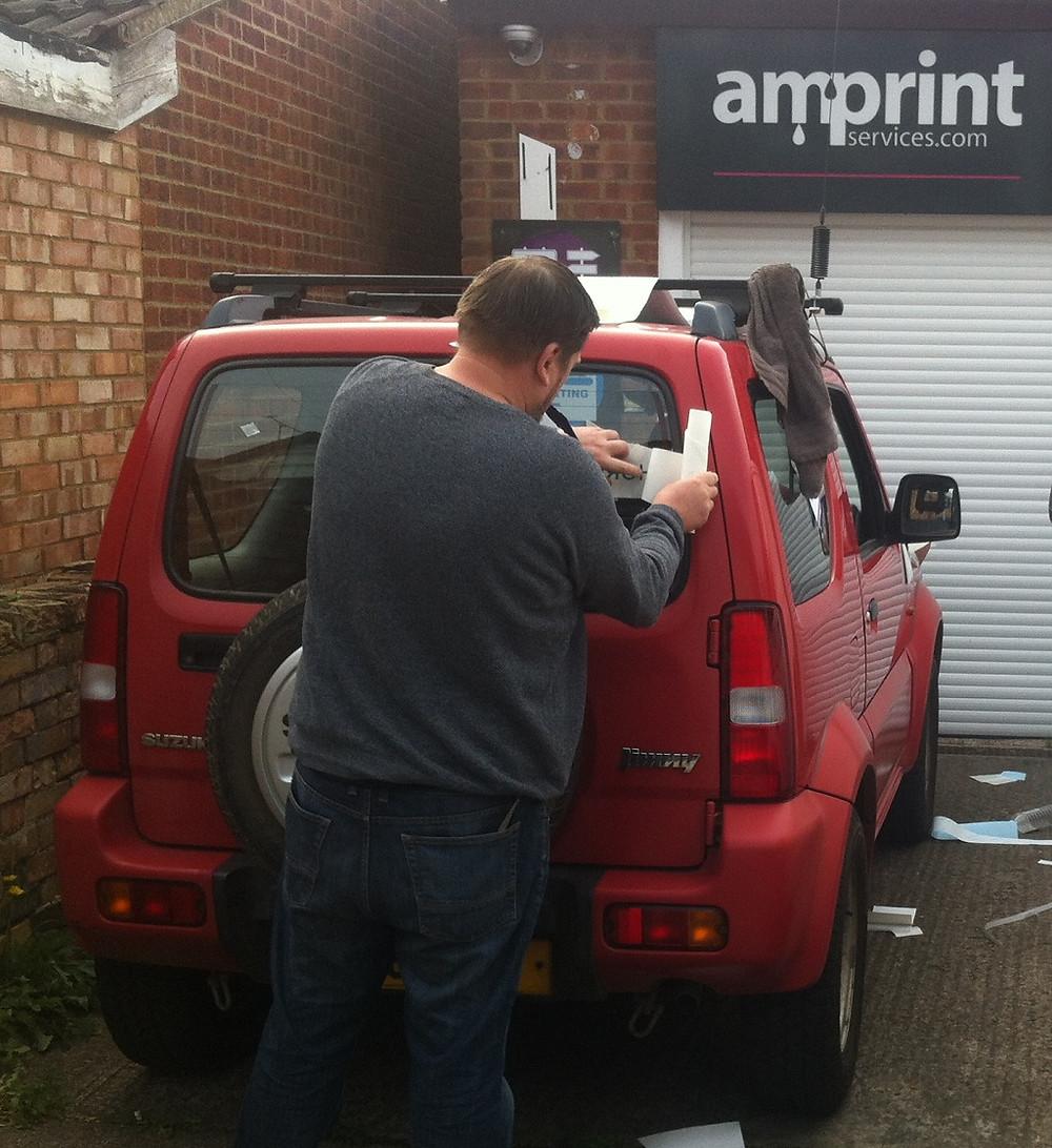 Hogger being branded, the hedgehog car.