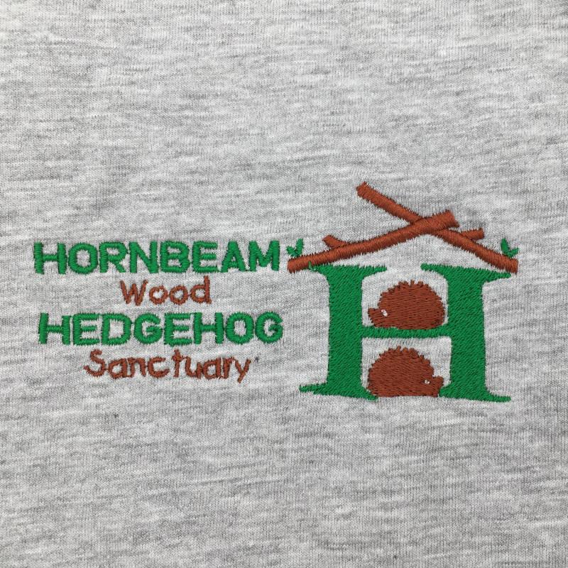 Classic T-Shirt - Embroidered Hornbeam Wood Hedgehog Sanctuary Logo
