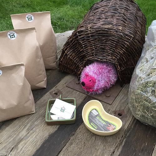 Starter A - Hedgehog Bunker House + Feeding Station Kit