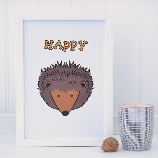 Tommy & Lottie Hedgehog Prints