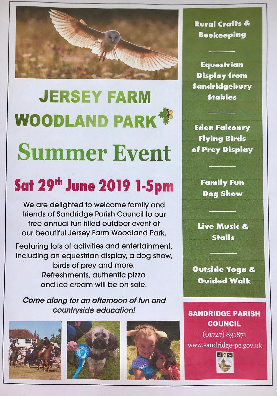 Woodland park summer event leaflet 2019