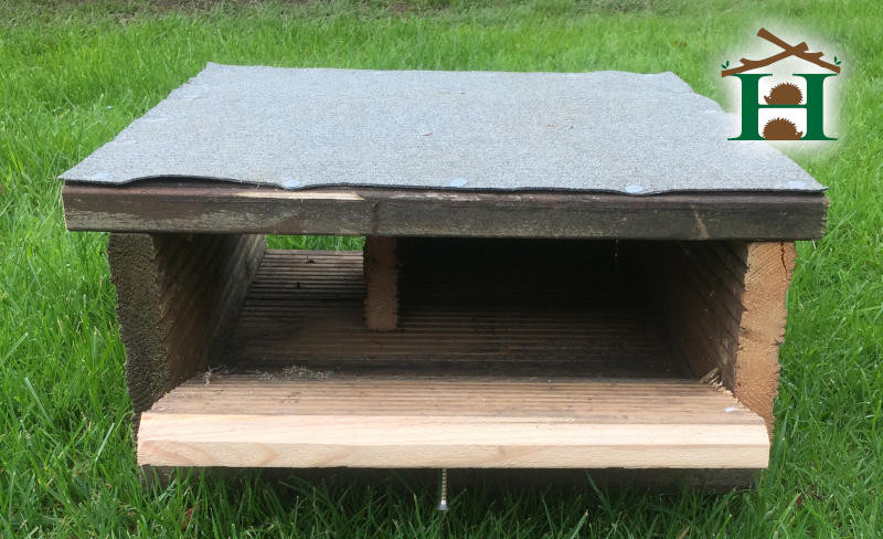 Finished Hedgehog Decking House