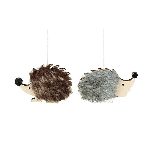 Hedgehogs Hanging Decoration - BROWN
