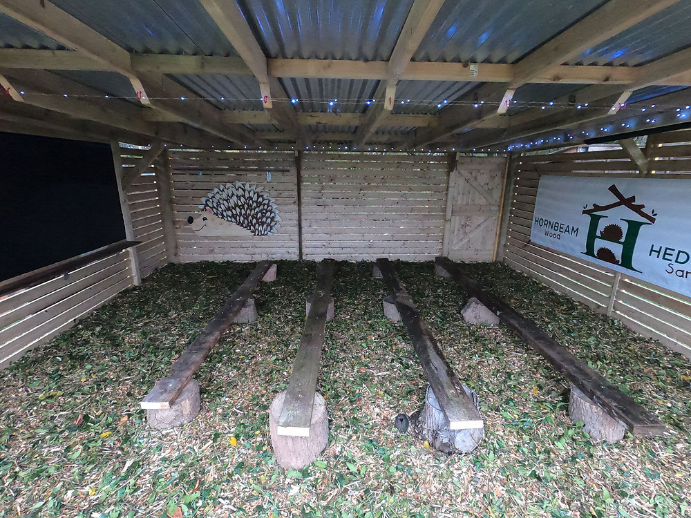 New Hedgehog Educational and Awareness Shelter at Hornbeam Wood Hedgehog Sanctuary