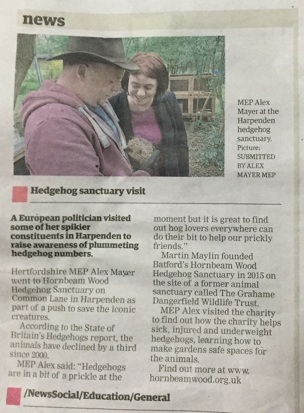 Herts Advertiser Article