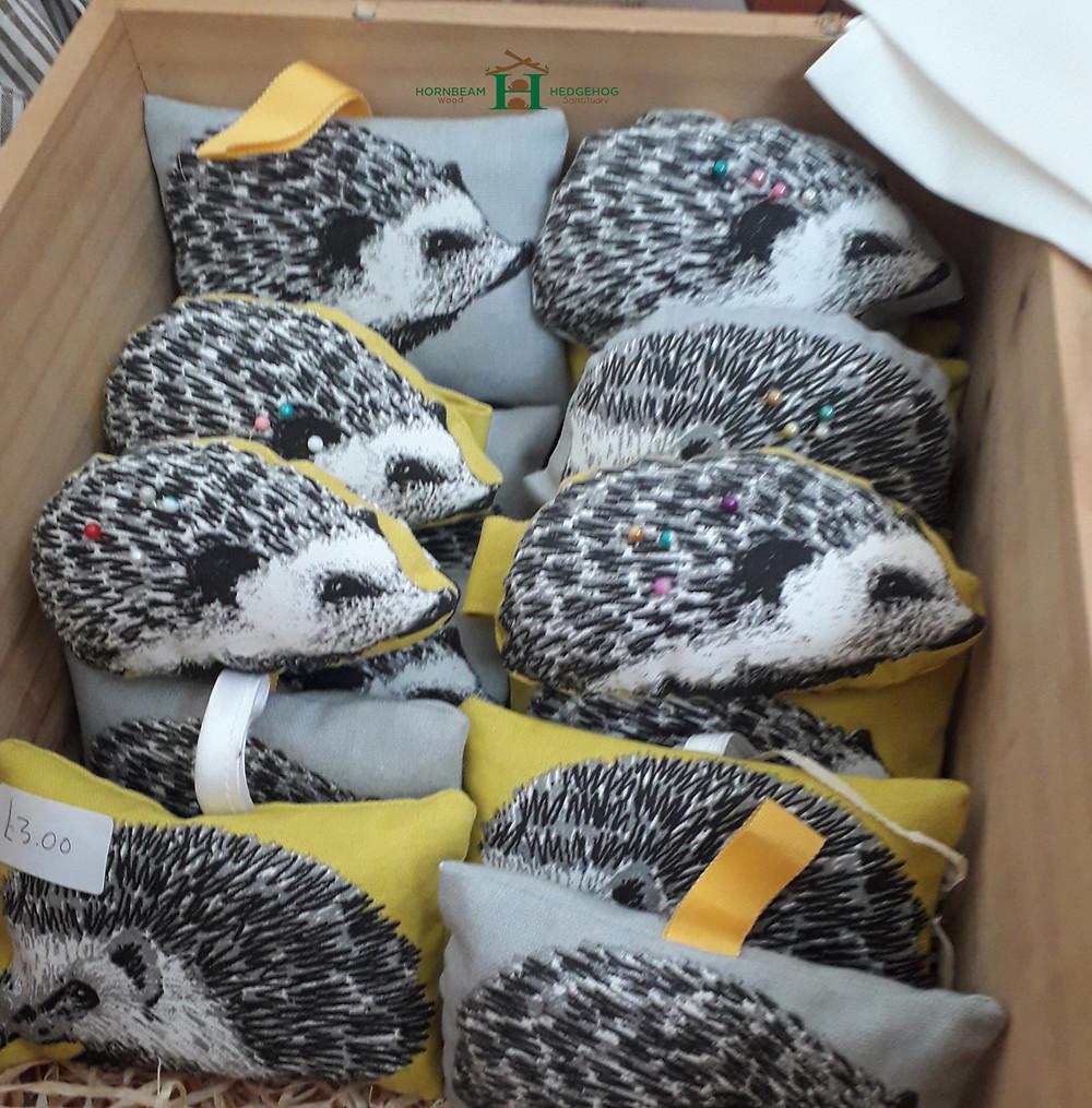 Kathy's hedgehog pin cousins