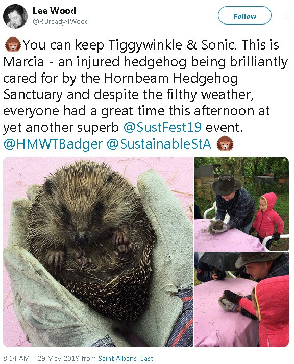 Hornbeam Wood Hedgehog Sanctuary 'Discover Hedgehogs' - Lee Wood @RUready4Wood
