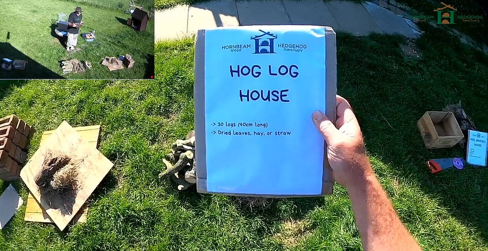 Live stream of hedgehog house being built