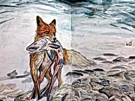 sketchbook- mixed media fox.jpg