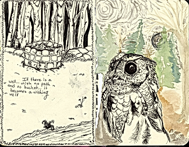 Sketchbook- wishing well