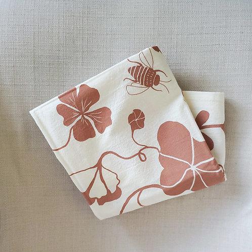 Nasturtium Cotton Tea Towel