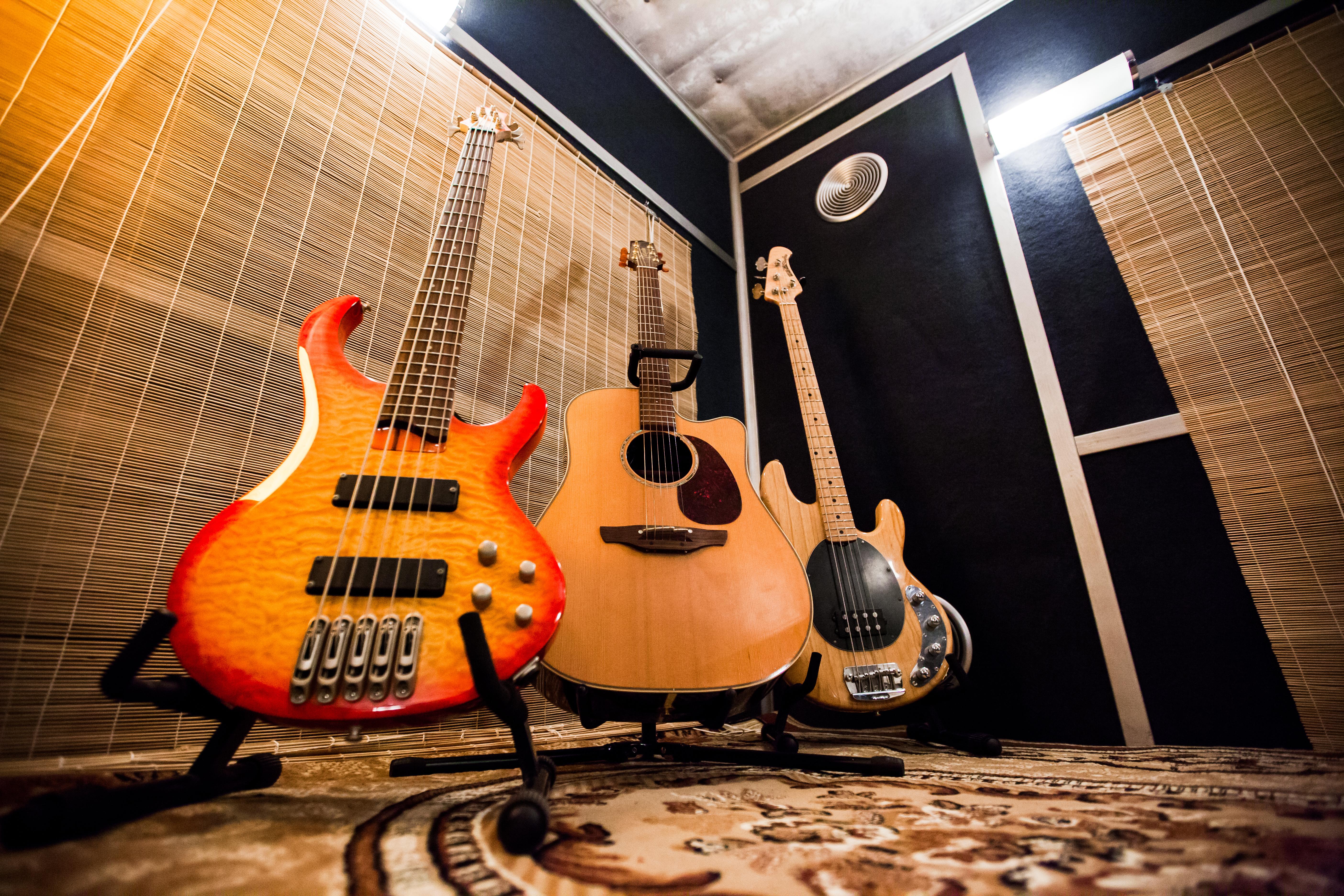 Гитара. Бас-гитара. Акустическая гит