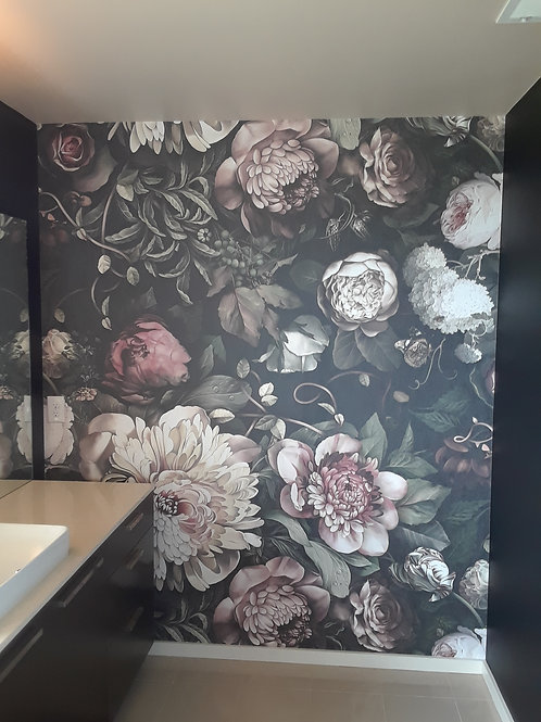 Floral Wall Covering - CLICK HERE FOR MORE SAMPLES